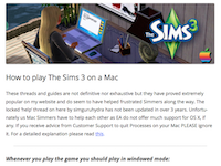 How to play The Sims 3 on a Mac