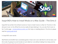itsaprilXD's installing Mods in Sims 3 Guide