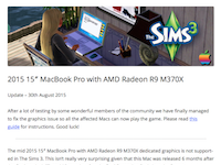 2015 15″ MacBook Pro with AMD Radeon R9 M370X
