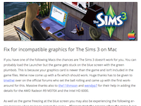 Fix for incompatible graphics for The Sims 3 on Mac | Bluebellflora (20160822)