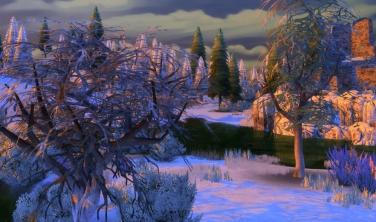 Windenburg Snow Sunset