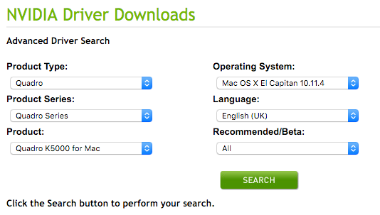 Updating mac drivers graphics