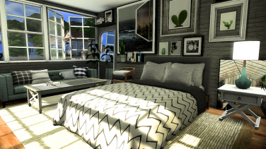 Grey and White Bedroom