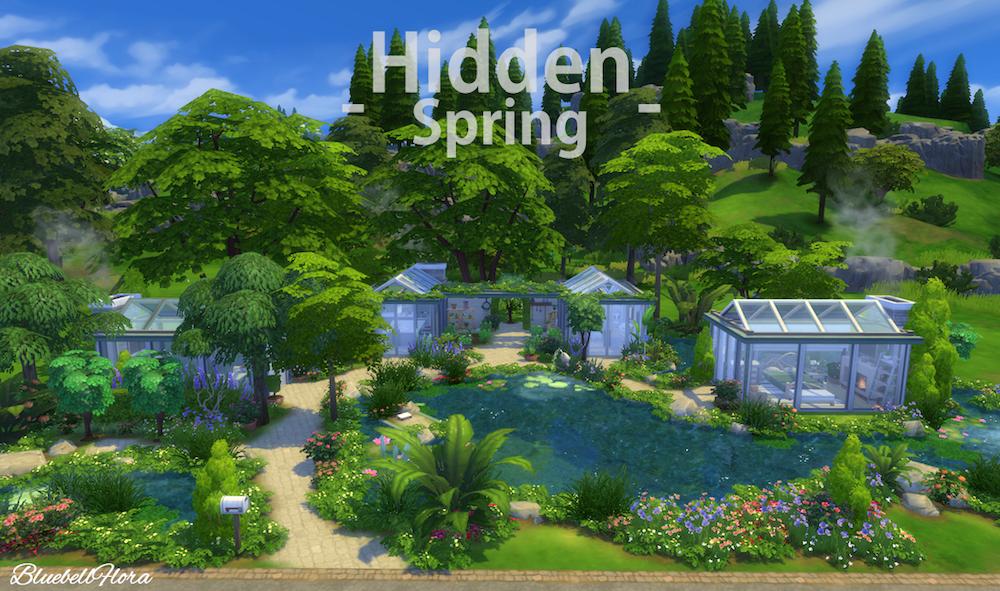 Hidden Spring A Sims 4 Residential Lot Bluebellflora