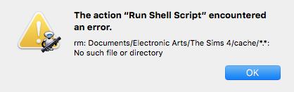 Shell Script Error