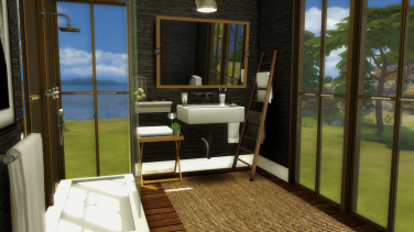 3x4 Warm Wooden Bathroom
