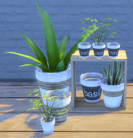 Simple recolour of Around The Sims 4 Build your Clutter pot