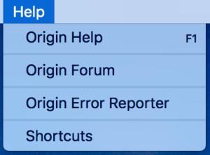 Origin Error Reporting now available for Mac – BluebellFlora