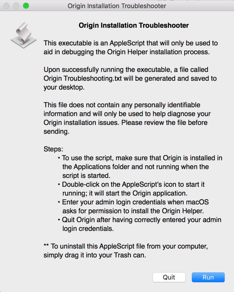 Origin 'Permission Helper Tool' error – EA are requesting