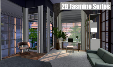 2B Jasmine Suites Bedroom Office