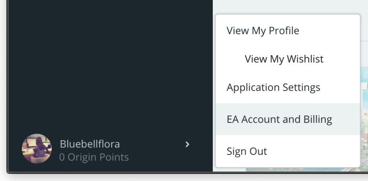 EA Account and Billing